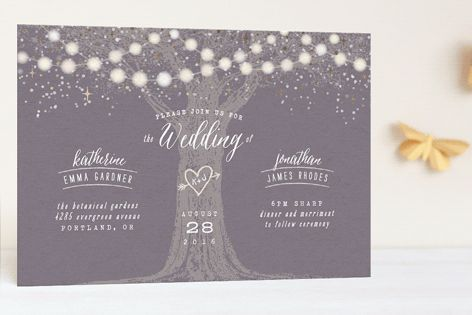 Garden Lights Foil-Pressed Wedding Invitations by Hooray Creative at minted.com