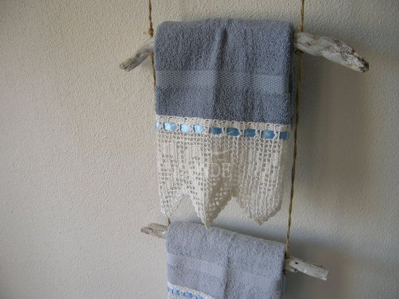 Wall mount towel rackdriftwoodbathroom decortowel di H2ONDE