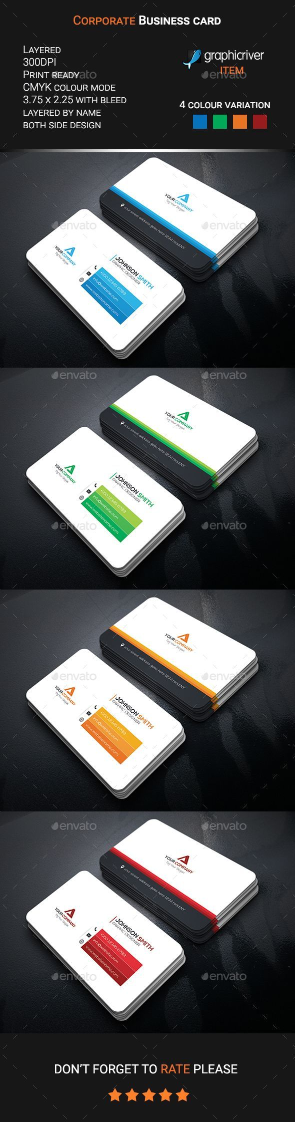 Corporate Business Card - Corporate Business Cards Download here : https://graphicriver.net/item/corporate-business-card/19717170?s_rank=3&ref=Al-fatih