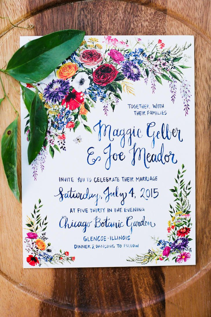 Recycled Papyrus Invitation Suite With Garden Theme | JEN LYNNE PHOTOGRAPHY | http://knot.ly/6492BQhl6