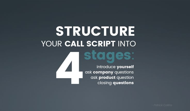 Salespeople are very much like actors, they have to develop their persona around every person they speak to, give a different performance with every single call they make.  On our new blog post we share some exclusive tips for salespeople. How to structure your call script in order to be the best at your role. Like any actor, you'll need a strong script. Find out how to write the best one for your performance. Visit our blog!