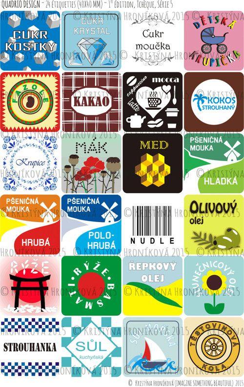 24 etiket na kořenky a potravinové dózy