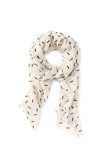 Line Print Scarf - Country Road