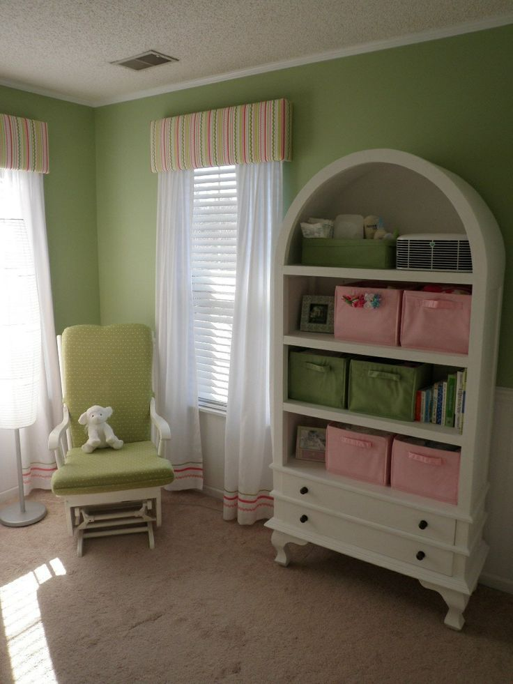 Abigail S Little Girl Nursery Soft Green Walls White
