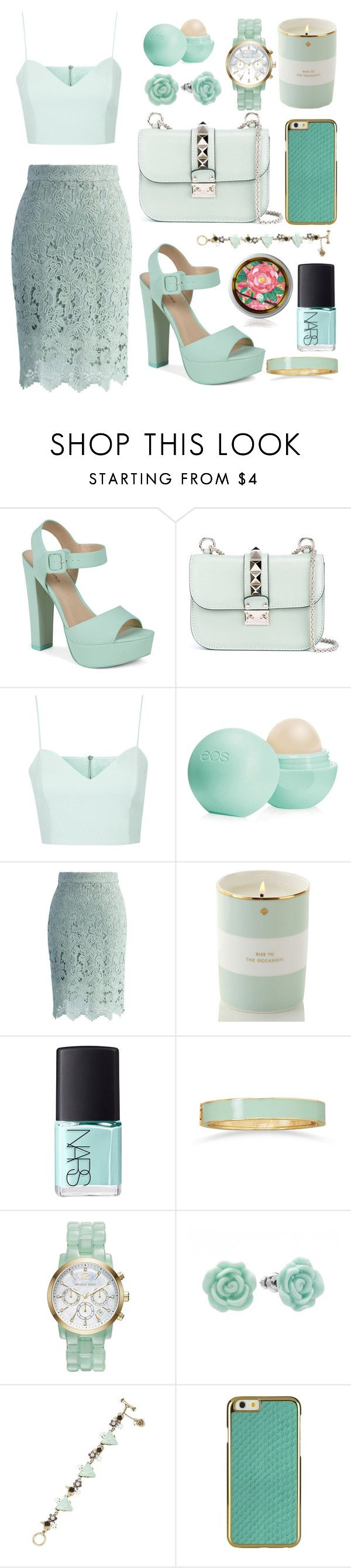 """""""Mint Dream"""" by francesca-stansfield ❤ liked on Polyvore featuring Call it SPRING, Valentino, Topshop, Eos, Chicwish, Kate Spade, NARS Cosmetics, BillyTheTree, Michael Kors and LC Lauren Conrad"""