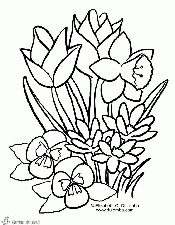 Voorjaar - lente 2  ~ uitprinten op A4 formaat.