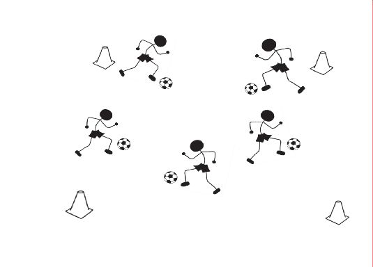 Fun Soccer Dribbling Drills for kids ages 5, 6, and 7 years old
