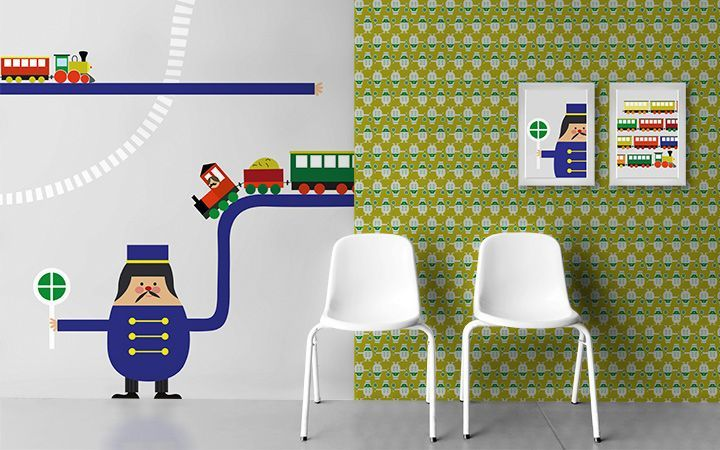 Bildtapete Trains - Designer Tapeten DecorPlay