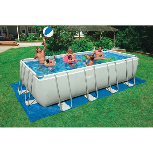 Costco swimming pool intex rectangular swimming pool 18 39 x 9 39 x 52 home for Intex rectangular swimming pool
