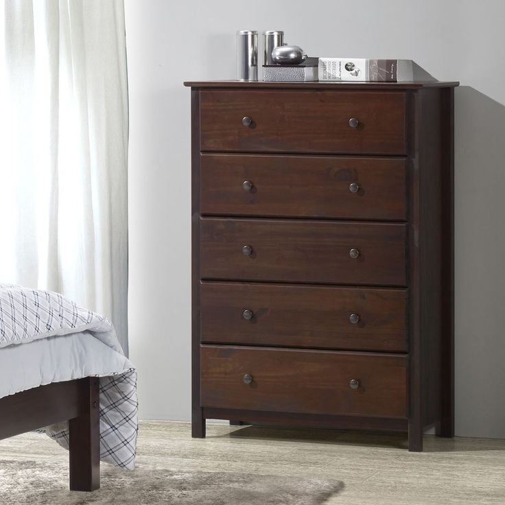 Contemporary Chest Drawer Solid Wood Traditional Rustic Cherry Finish Furniture #GrainWoodFurniture #ContemporaryCountryModernRusticTraditional #Furniture #Chest #Drawer #Home