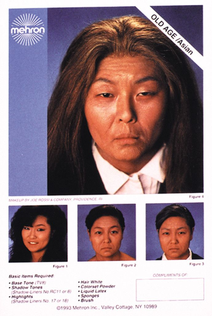 costume makeup: instruction sheets asian aged Case of 50