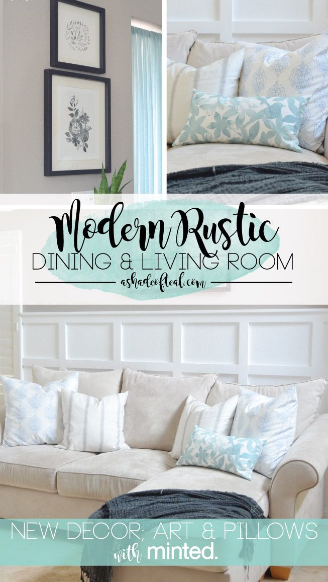 Modern Rustic Dining Living Room Decor Updates With Minted