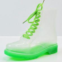 2017 New Arrival 14 Cores Transparente Botas De Chuva As Mulheres Impermeáveis Botas Martin Geléia Sapatos de Água Botas Feminina Zapatos Mujer alishoppbrasil