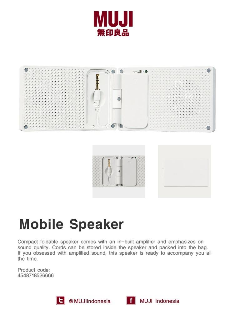 MUJI Mobile Speaker