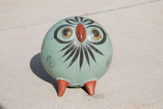 Vintage Hand Painted Ceramic Owl, $18