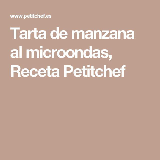 Tarta de manzana al microondas, Receta Petitchef
