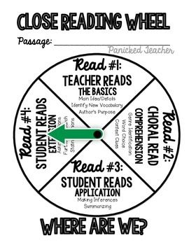 Close Reading Wheel FREEBIE