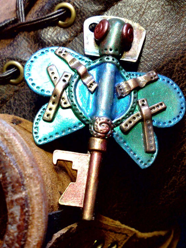 steampunk pendant polymer clay