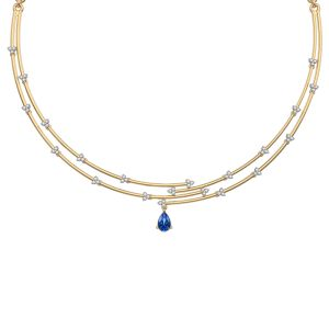 Blue Constellation Necklace