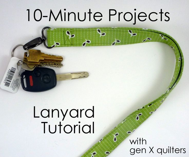 Who doesn't love a quick and easy project?  I sure do!  And since I needed to replace the lanyard I had, I thought I'd do a quick tuto...