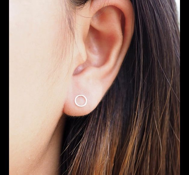 Minimalistische ronde cirkel oorknopjes oorbellen