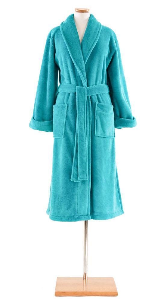 Sheepy Fleece Robe by Pine Cone Hll   Aqua