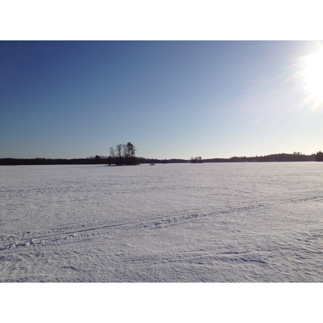 Lake Suontee, Finland. Just walking on the ice March 2012.