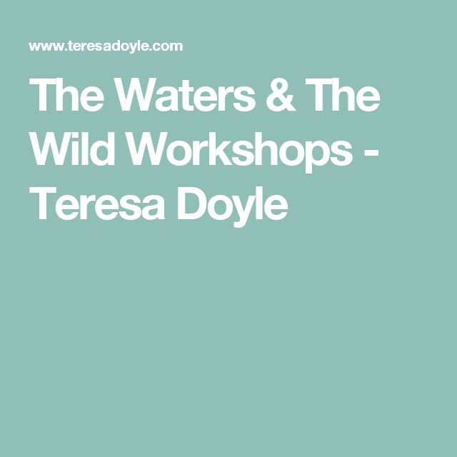 The Waters & The Wild Workshops - Teresa Doyle
