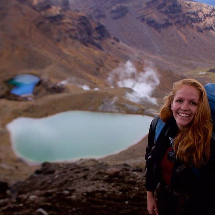 The smile says it all! Anne, our intern, is loving her time in  Tongariro