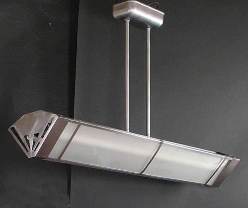 Pw Antique Lighting Art Deco Fluorescent Ceiling Light