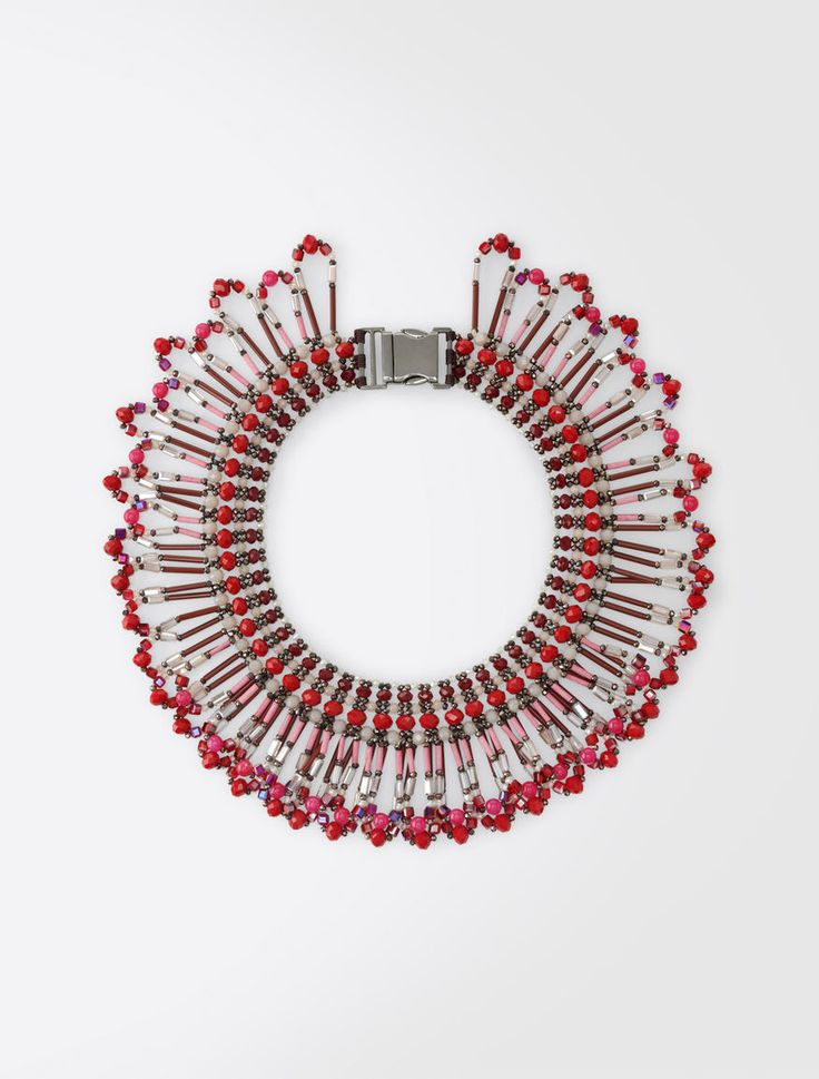 MaxMara WeekEnd NADAR coral: Ethnic choker necklace Product page