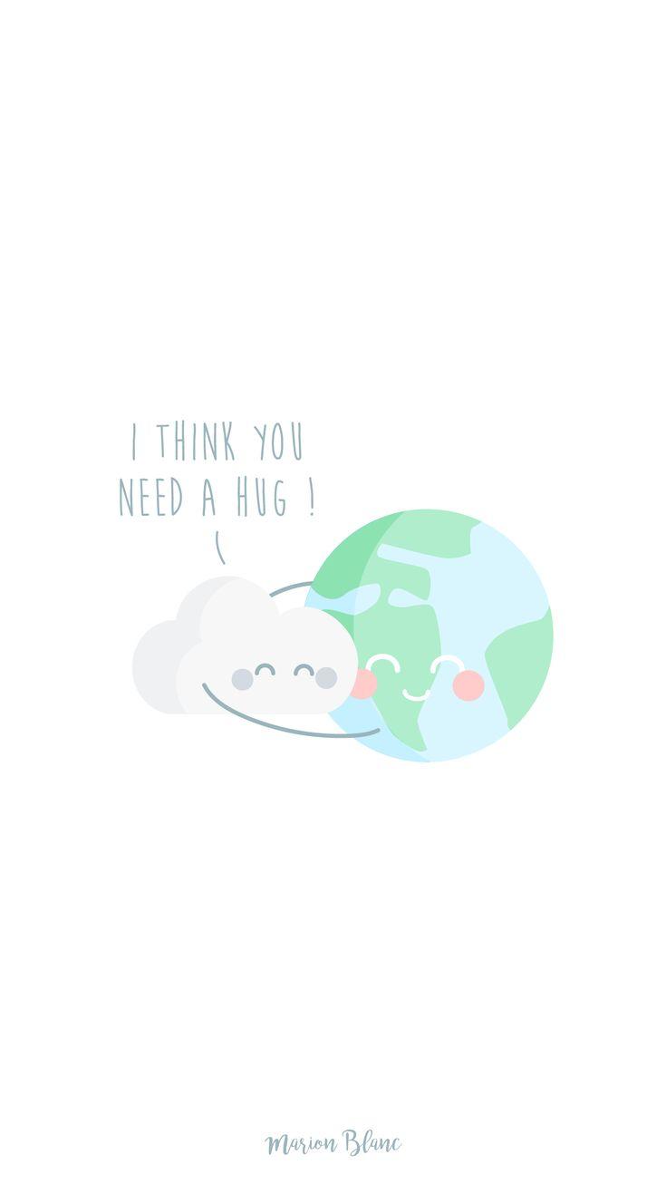 earth hug illustration - Marion Blanc