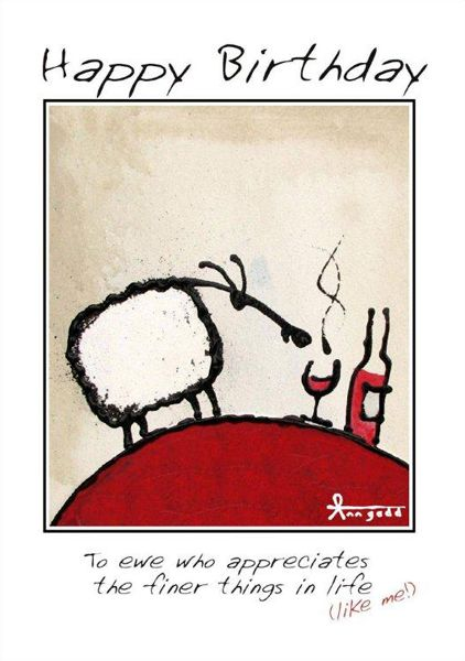 """To ewe who enjoy the finer things in life."" card by Ann Gadd."