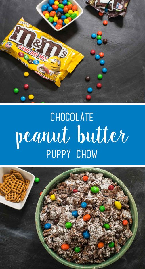 When football season is busy and you need a quick and easy sweet snack idea that can help you and your party guests cheer on your favorite team and also doubles as a kid-friendly dessert—look no further than this recipe for Chocolate Peanut Butter Puppy Chow. Find everything you need to make this easy treat—including colorful and festive M&M'S® Game Day Mix available exclusively at your local CVS!
