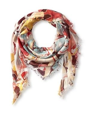 62% OFF Kenneth Jay Lane Women's Garden Party Square Scarf, Cream Multi