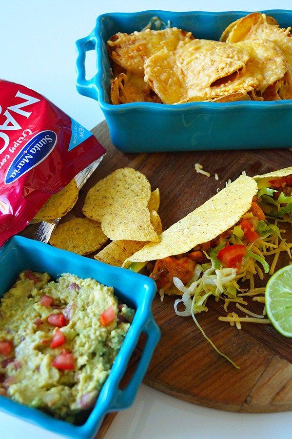 Guacamole, glutenvrije taco's en nachochips
