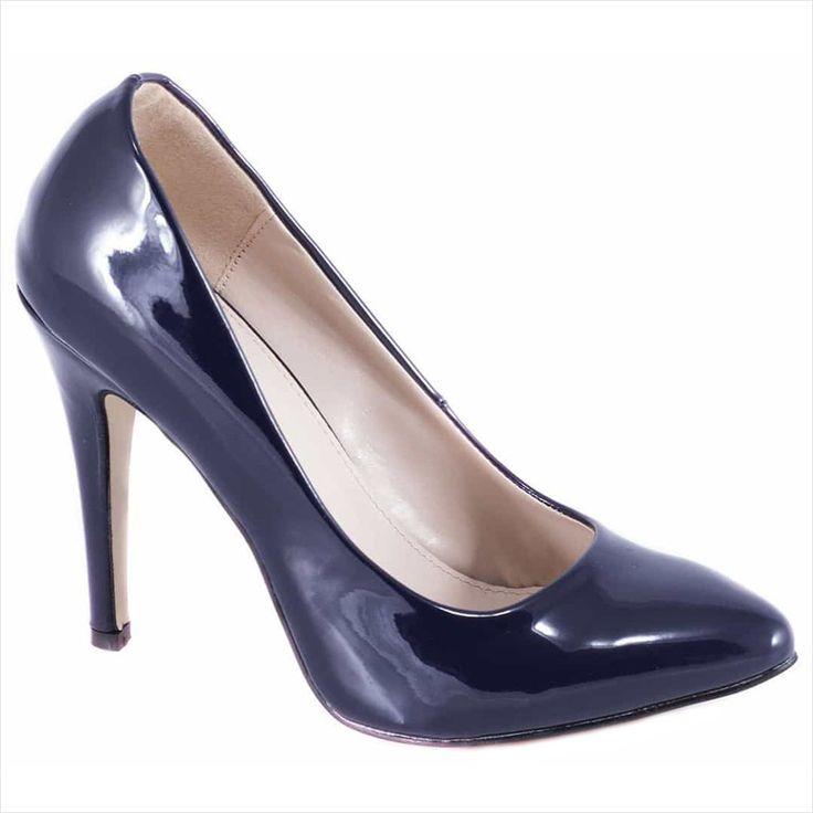 Pantofi navy cu toc 51760N - Reducere 60% - Zibra
