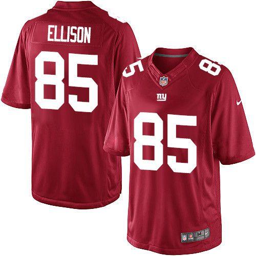 Youth Nike New York Giants #85 Rhett Ellison Limited Red Alternate NFL Jersey
