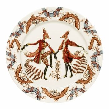 iittala Tanssi Dinner Plate | Don't just set the table; tell a tale. Klaus Haapaniemi, the artist who brought us iittala Taika (Magic), now invites us into the whimsical world of Tanssi (Dance)