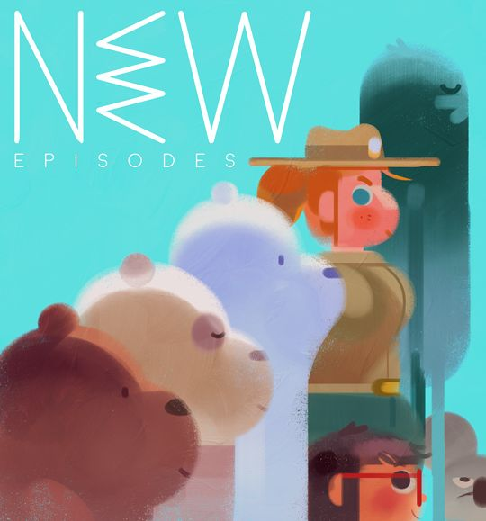 "everydaylouie:  ""we bare bears is back yall, new episodes monday - thursday at 7 pst for the WHOLE MONTH!! there's loads of good stuff comin' up!!  """