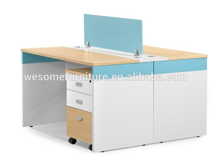 Face to Face melamine board two seat workstation for staff