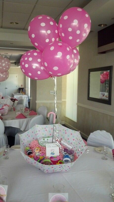 Baby shower centerpiece with baby necessities inside! Adorable
