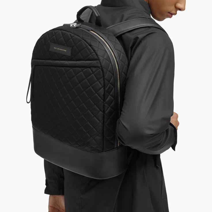 """A/W 16 Kastrup 15"""" backpack in Black Quilt"""