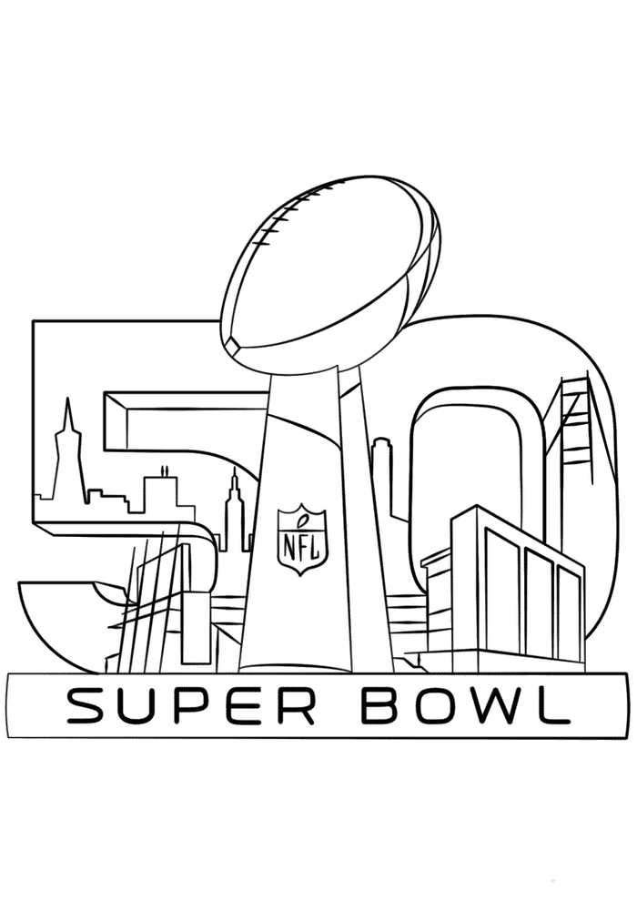 Super Bowl Trophy Coloring Page Di 2020