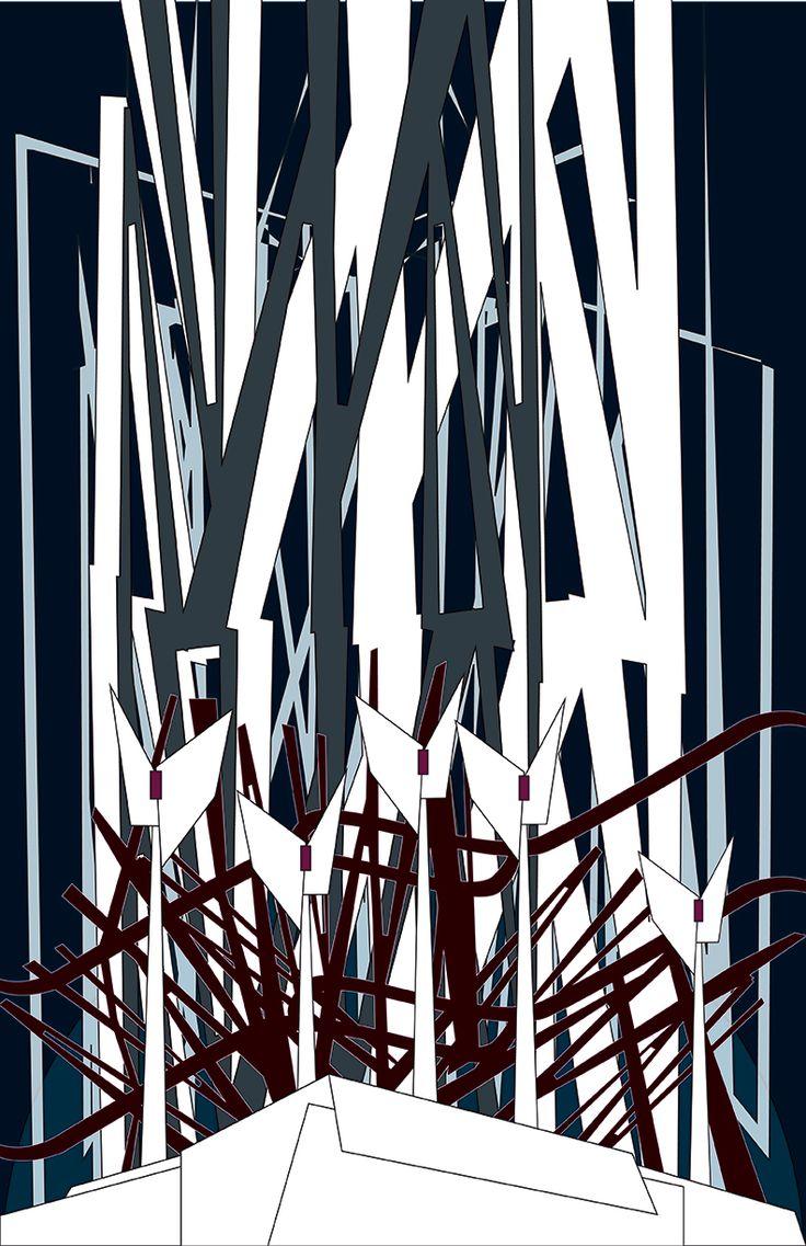bosque1. ilustración vectorial