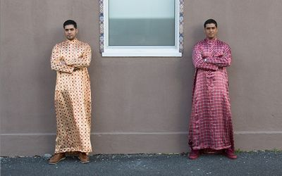 DOUBLE TAKE: Husain and Hasan Essop, winners of the inaugural Standard Bank Young Artist award for Visual  Art. Picture: TIMMY HENNY http://ow.ly/qaBXv