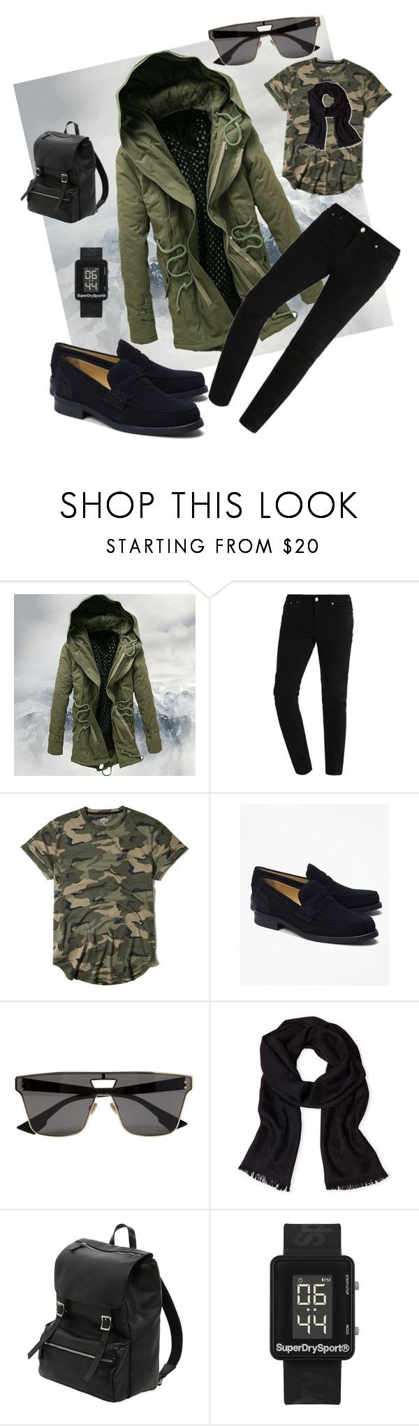 """""""Fall Look Men's"""" by harshal-singhai on Polyvore featuring Hollister Co., Brooks Brothers, Christian Dior, Versace, Invicta, Superdry, men's fashion and menswear"""