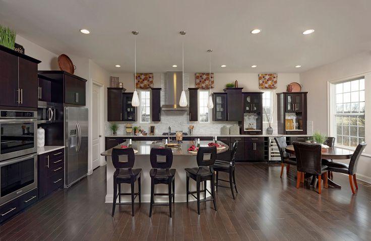 Breakfast area off kitchen, Peacefield floor plan, Drees