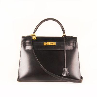 Hermès Kelly 32 Box Calf Black  | CBL Bags