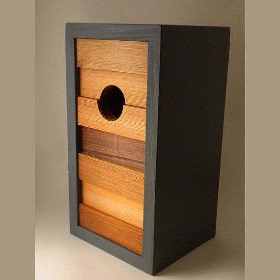 Birdhouse modern minimalist The Ebb and Flow by twigandtimber, Love this shop will be ordering soon..........